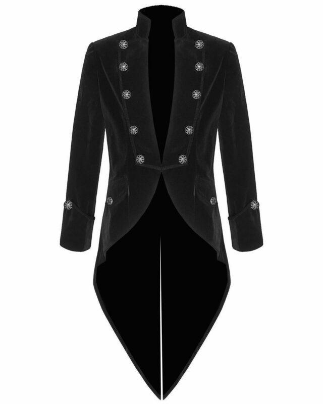 Tail coat Jacket Black Velvet Goth Steampunk Victorian, Gothic Clothing, Velvet Jackets, Best Jackets for Men, Seampunk jacket for sale, buy steampunk jacket, gothic jacket for sale, buy gothic jacket, goth jacket for sale, buy goth jacket, military jackets for men, military jackets for sale, buy military jackets