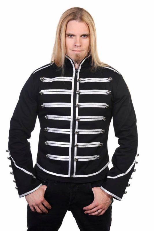 Black Banned Military Drummer Parade Jacke, Gothic Clothing, men Jacket, Seampunk jacket for sale, buy steampunk jacket, gothic jacket for sale, buy gothic jacket, goth jacket for sale, buy goth jacket, military jackets for men, military jackets for sale, buy military jackets