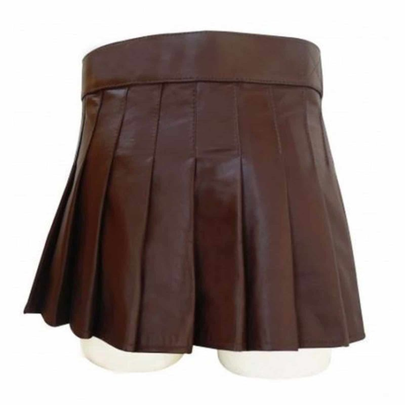 Highland Gladiator Viking Utility Kilt, best leather kilts, utility leather kilts, Highland Gladiator Viking Utility Kilt, best leather kilts, utility leather kilts, short leather kilt, brown leather kilt, womens leather kilt, leather kilt for women sale,